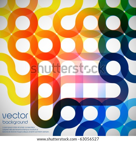 Rainbow abstract background made from circles - stock vector