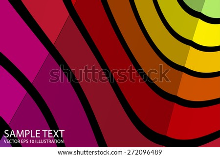 Rainbow abstract twisted colorful background illustration - Vector colorful striped  background illustration template - stock vector