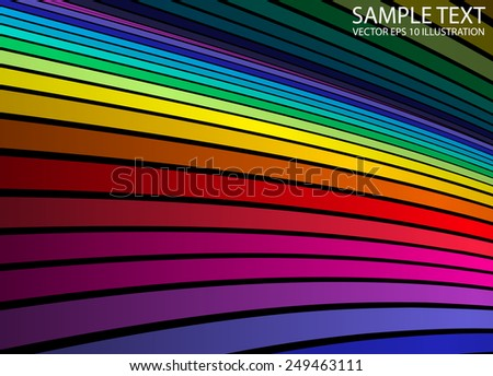 Rainbow abstract vector color background illustration template - Vector abstract colorful  background stripes illustration - stock vector
