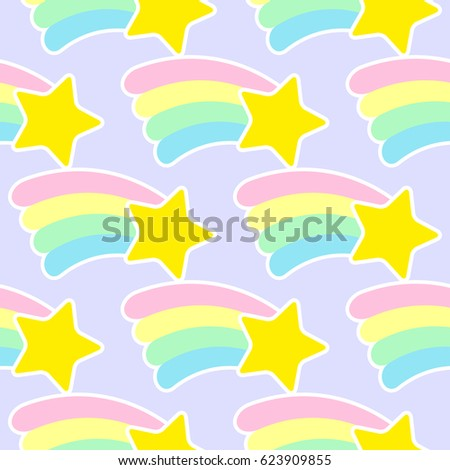 Rainbow and star pattern.