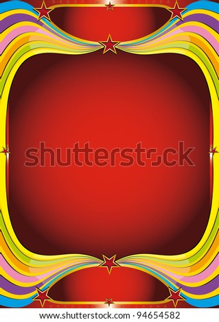 Rainbow background. A Rainbow background for your show - stock vector