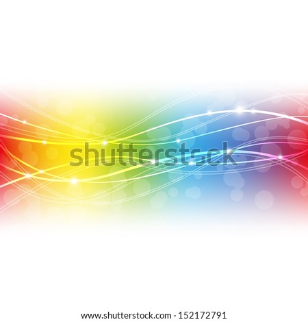 Rainbow background with place for text - stock vector