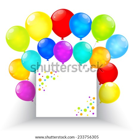 Rainbow balloons isolated on white background. Vector EPS10.