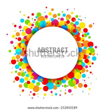 Rainbow Bright Celebration Holiday Frame Background, vector illustration. - stock vector