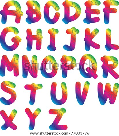 Rainbow Bubble Font - a-k-b info