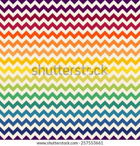 Rainbow chevron seamless pattern. - stock vector