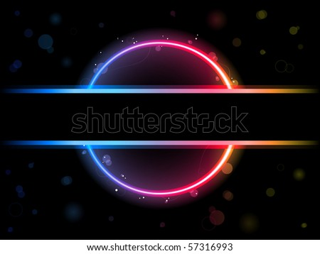 Rainbow Circle Border with Sparkles and Swirls. Editable Vector Illustration - stock vector