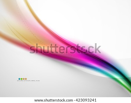 Rainbow color glossy silk elegant wave. Vector abstract background - stock vector