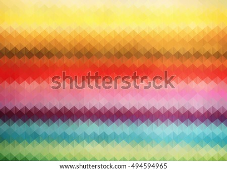 Rainbow Color triangle grid. geometric background