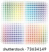 Rainbow colored vector background - stock vector