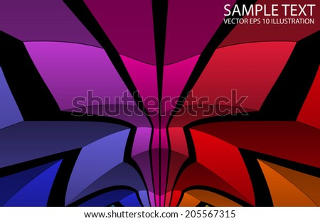 Rainbow colored vector background illustration - Shiny vector rainbow template - stock vector