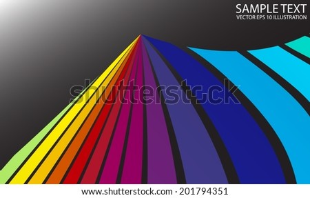 Rainbow colorful  background shiny vector illustration - Vector colorful striped abstract background illustration