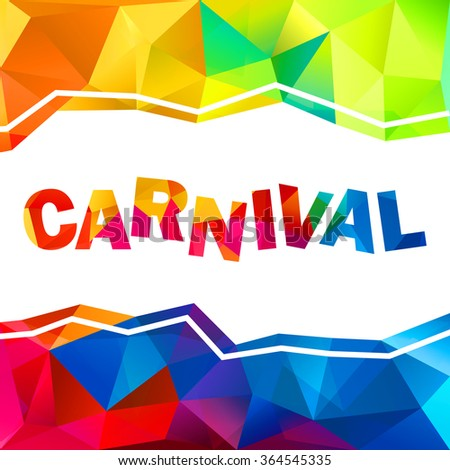Rainbow colors triangles vector abstract carnival sign and frame - stock vector