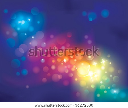 Rainbow defocused light Background. vector layered. - stock vector