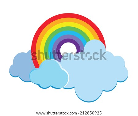 Rainbow design - stock vector