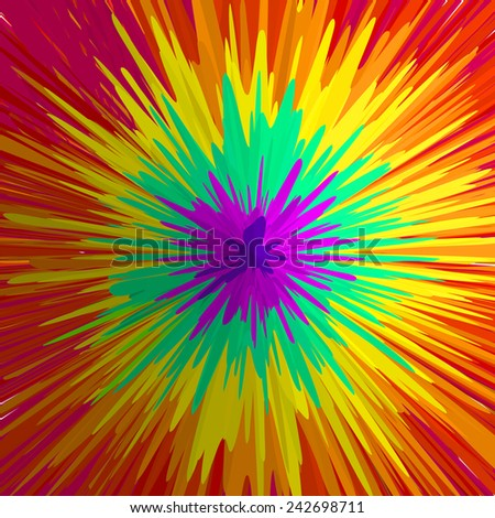 Rainbow explosion, abstract background. Vector illustration, EPS10. - stock vector