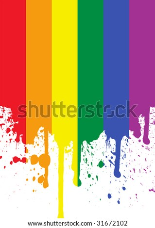 rainbow flag - stock vector
