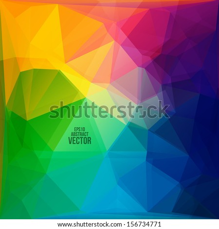 Rainbow grid. Vector illustration for your business artwork. - stock vector