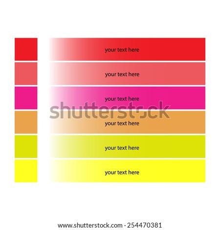 rainbow illustration clipart template web - stock vector