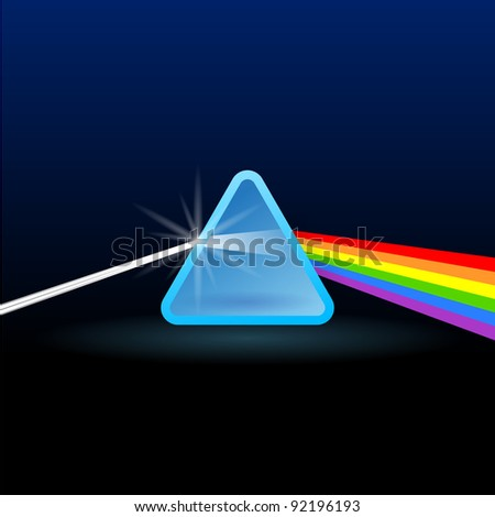 Rainbow Light Separation with Triangle - stock vector