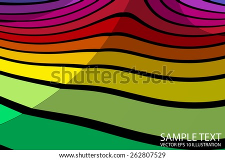 Rainbow lighted background vector illustration - Vector colorful striped abstract background template
