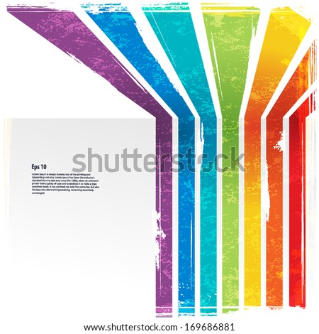 Rainbow lines with vintage background  - stock vector