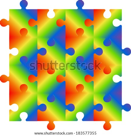 rainbow pattern seamless for a colorful  puzzle background