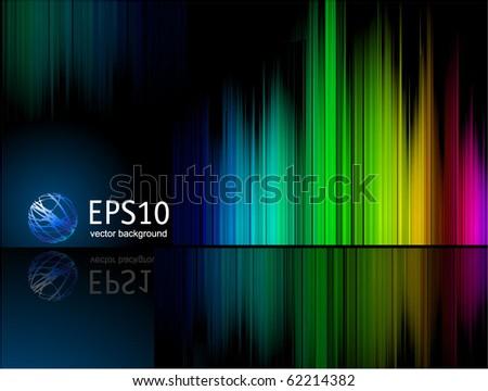 Rainbow reflection vector background. - stock vector