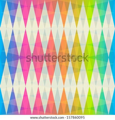 rainbow rhombus seamless pattern - stock vector