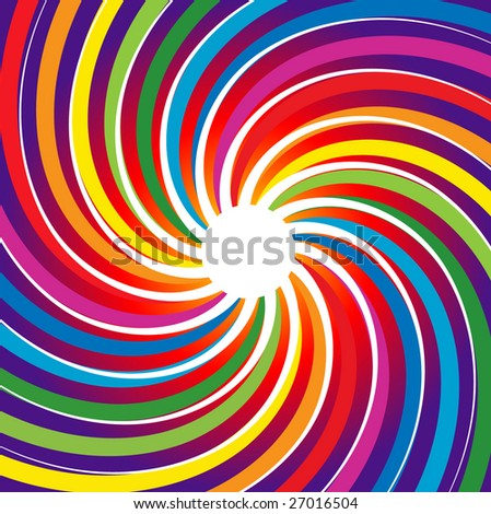 Rainbow Spiral Burst Background (Vector)