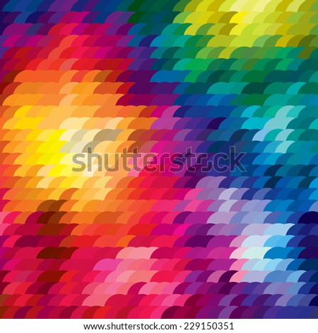 Rainbow squama background . Vector illustration. - stock vector