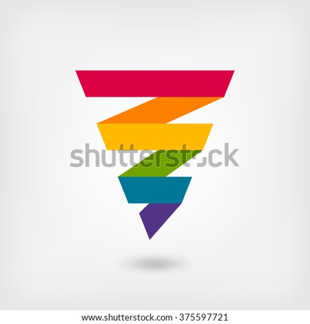 rainbow strip abstract symbol - vector illustration. eps 10 - stock vector