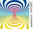 Rainbow Stripes Projection on Torus. Vector Illustration - stock vector