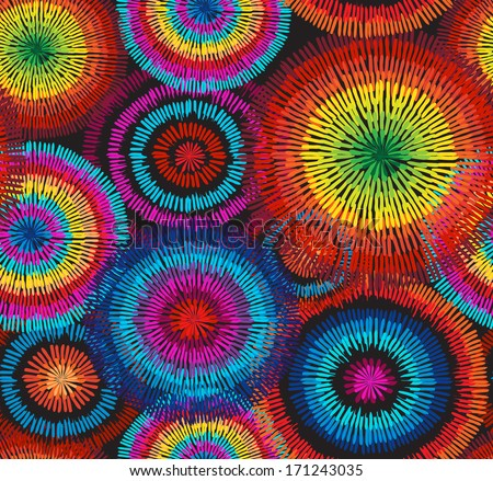 rainbow sunflower vector seamless background wallpaper  - stock vector