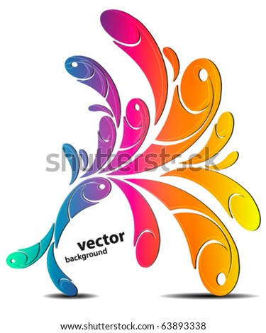 Rainbow swirly background - stock vector