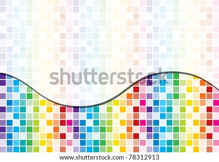 Rainbow toned mosaic abstract business background in vector format - stock vector