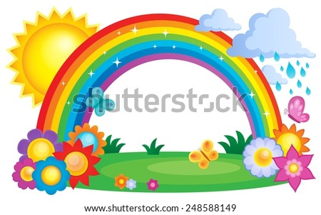 Rainbow topic image 2 - eps10 vector illustration. - stock vector