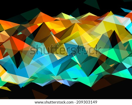 Rainbow Triangles - stock vector