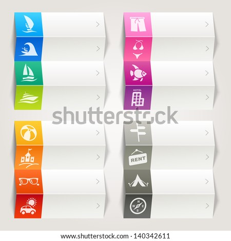 Rainbow - Vacation and Travel Icons / Navigation template - stock vector