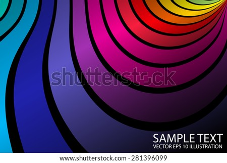 Rainbow vector abstract design background illustration - Abstract rainbow colorful striped template - stock vector
