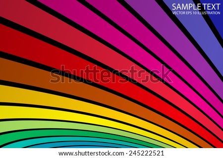 Rainbow  vector colorful background template - Vector color abstract background stripes illustration - stock vector