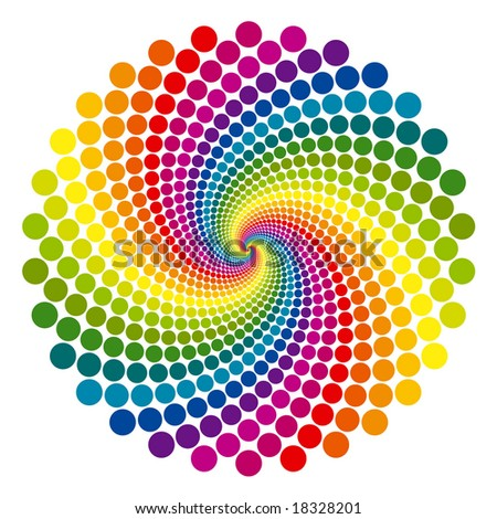 Rainbow vortex vector background. - stock vector