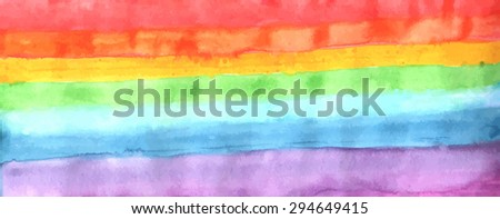 Rainbow watercolor background. Vector illustration