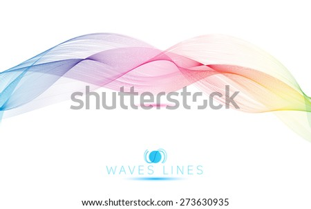 rainbow waves colorful gradient light blend line bright abstract vector - stock vector