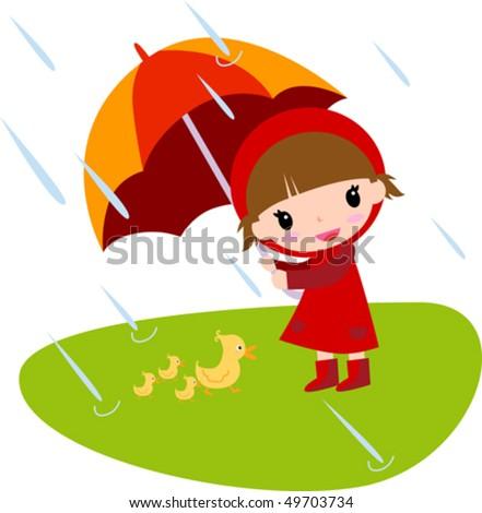 Raining - stock vector