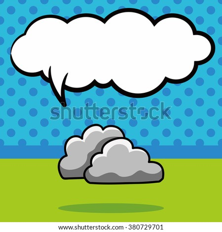 rainy cloud doodle, speech bubble