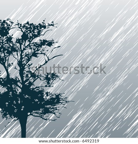 Rainy day - stock vector