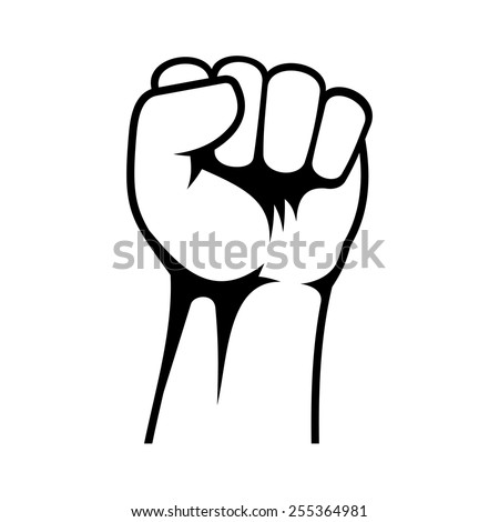 Raised Fist - stock vector