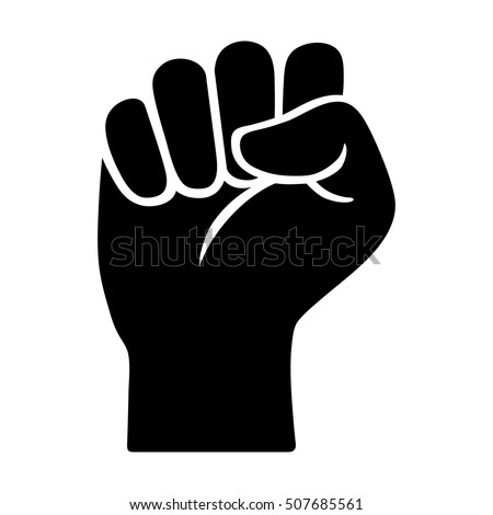 Raised Fist Symbol Victory Strength Power Stockvector 507685561