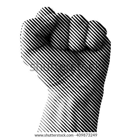 Raised fist vector illustration. - stock vector
